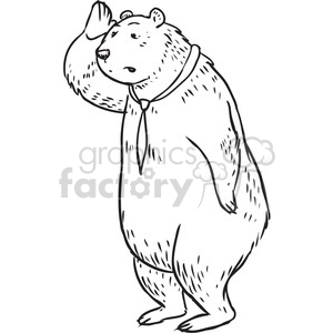 bear wearing a tie vector RF clip art images clipart. Commercial use image # 397099