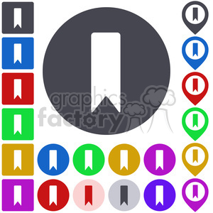 bookmark icon pack clipart. Commercial use image # 397289