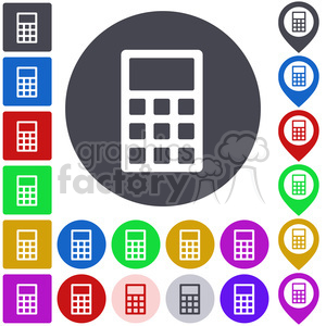 calculator icon pack clipart. Royalty-free image # 397299