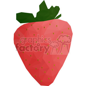 Strawberry geometry geometric polygon vector graphics RF clip art images clipart. Commercial use image # 397323