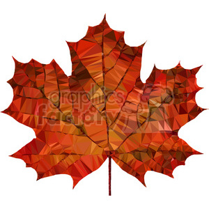 Maple leaf geometry geometric polygon vector graphics RF clip art images clipart. Royalty-free image # 397353
