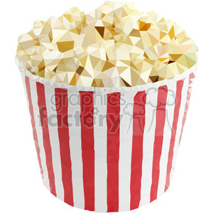 Popcorn triangle art geometry geometric polygon vector graphics RF clip art images clipart. Royalty-free icon # 397363