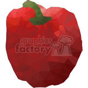 Red Pepper geometry geometric polygon vector graphics RF clip art images clipart. Commercial use image # 397373