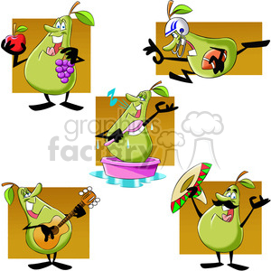 paul the cartoon pear character clip art image set clipart. Royalty-free image # 397393