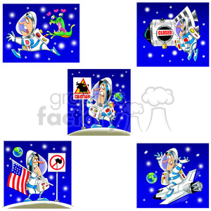 scott the astronaut cartoon character clip art image set clipart. Commercial use image # 397783