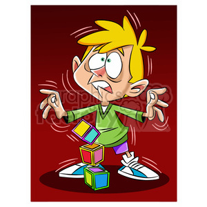 luke the teen cartoon character trembling from earthquake clipart. Royalty-free image # 397843