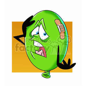 cartoon party balloon vector image mascot happy with a band aid clipart. Commercial use image # 397883
