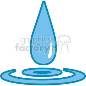 blue drop of water image clipart. Royalty-free image # 397941