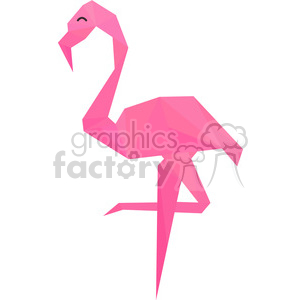 Flamingo polygon animal art clipart. Royalty-free image # 397951