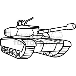 military tank outline clipart. Commercial use image # 398001