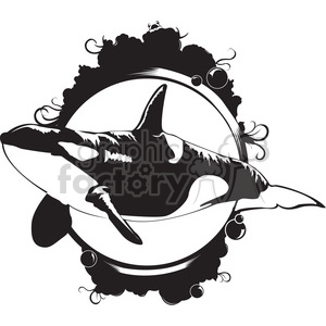 Orca killer whale clipart. Royalty-free image # 398011