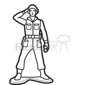 Royalty Free Outline Of Toy Soldier Illustration Graphic