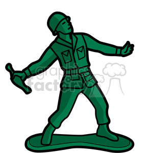 toy gernader soldier illustration graphic clipart. Royalty-free image # 398071