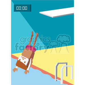 olympic high dive character illustration clipart. Royalty-free image # 398151