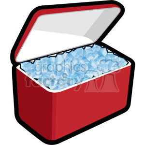 Royalty Free Cooler Loaded With Ice 398211 Vector Clip Art