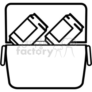 soda cans in a cooler icon clipart. Royalty-free image # 398221
