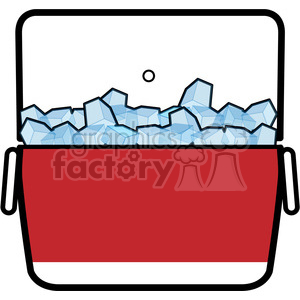 cooler full of ice icon clipart. Royalty-free image # 398231