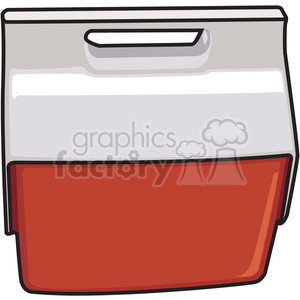 red cooler clipart. Royalty-free image # 398241