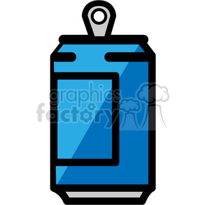 blue soda can icon clipart. Royalty-free image # 398251