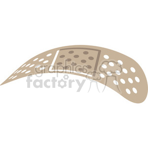 curved band aid v3 clipart. Royalty-free image # 398283