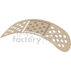 curved band aid v2 clipart. Royalty-free image # 398286