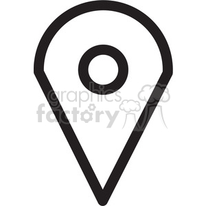 icon black+white symbol symbols direction map location marker