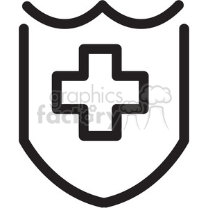 shield icon clipart. Royalty-free image # 398356
