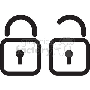 locks icon clipart. Royalty-free image # 398366