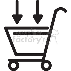 shopping cart in icon clipart. Royalty-free icon # 398386