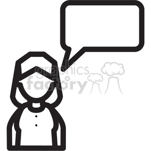 social media woman chat icon clipart. Commercial use image # 398396