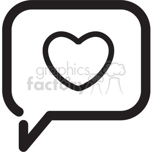 icon black+white symbol symbols chat talk message heart social+media