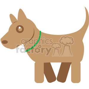 Brown Dog vector image RF clip art clipart. Commercial use image # 398443