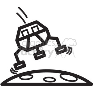 rover landing on mars clipart. Commercial use image # 398473