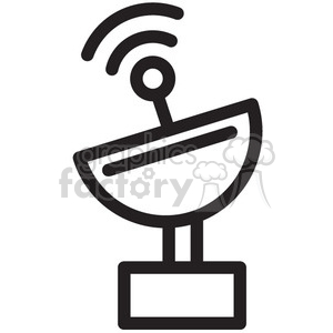radar sending signal vector icon clipart. Commercial use icon # 398513
