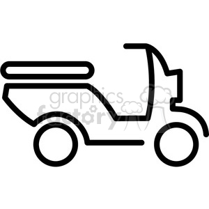 icons black+white outline vehicle transportation vespa scooter