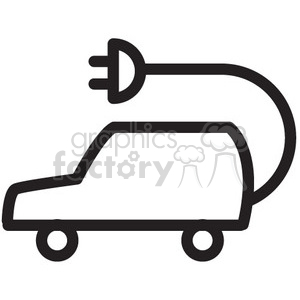 electric car vector icon clipart. Commercial use image # 398553