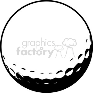 golf ball vector illustration clipart. Royalty-free image # 398810
