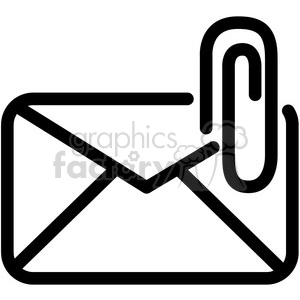 email attachment vector icon clipart. Commercial use image # 398822