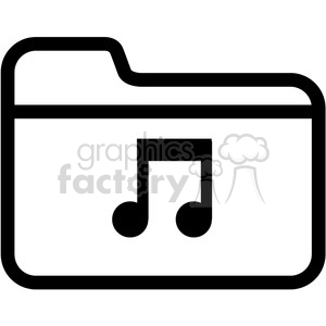 music folder vector icon clipart. Royalty-free icon # 398842