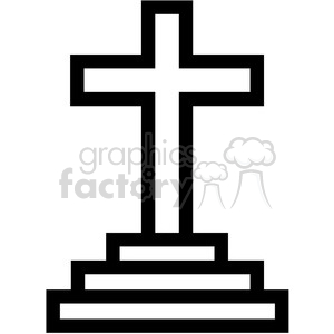 christian cross symbol vector icon clipart. Royalty-free image # 398852