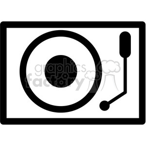 dj turn table vector icon clipart. Royalty-free image # 398862