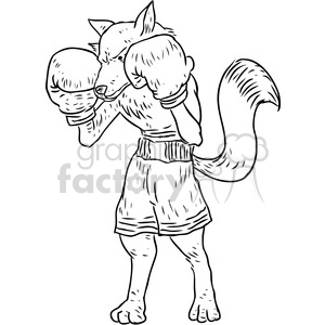 foxy boxer vector illustration clipart. Royalty-free image # 398872