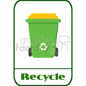 royalty free rf clipart illustration green recycle bin modern flat label design with text recycle illustration isolated on white background clipart. Royalty-free image # 398901