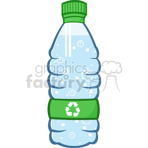 9354 royalty free rf clipart illustration water plastic bottle cartoon illustratoion vector illustration isolated on white clipart. Commercial use image # 398959