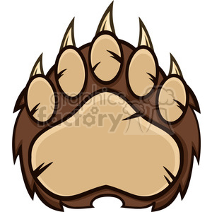 royalty free rf clipart illustration brown bear paw with claws vector illustration isolated on white clipart. Royalty-free image # 398977