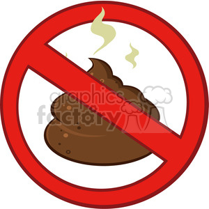 royalty free rf clipart illustration stop prohibition sign over pile of smelly poop vector illustration isolated on white clipart. Royalty-free image # 399207