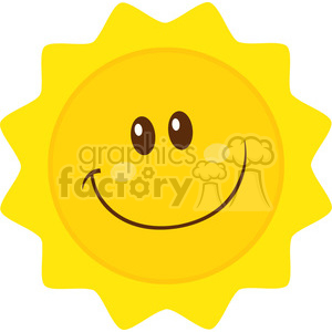 royalty free rf clipart illustration smiling sun cartoon mascot character simple flat design vector illustration isolated on white background clipart. Royalty-free image # 399308