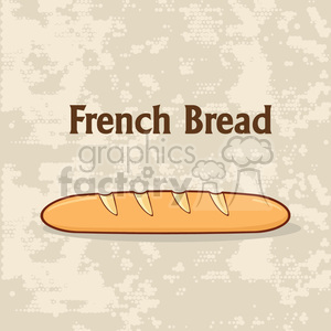 illustration cartoon french bread baguette poster design with text vector illustration background clipart. Royalty-free image # 399426
