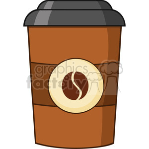 illustration coffee cup cartoon vector illustration isolated on white clipart. Commercial use image # 399517