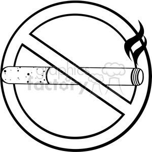 fitness health healthy exercise cartoon character smoking cigarette smoke no. stop
